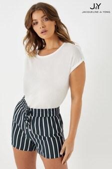JDY Stripe Print Shorts