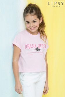 Lipsy Girl Graphic 'Drama Queen' Tee