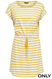 Only Stripe Print Jersey Dress