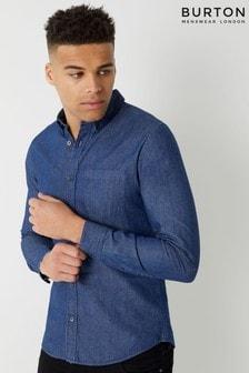חולצת ג'ינס בשטיפה כהה של Burton