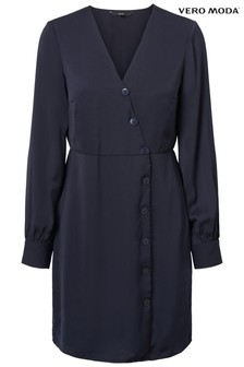 Vero Moda Petite Long Sleeve Wrap Dress