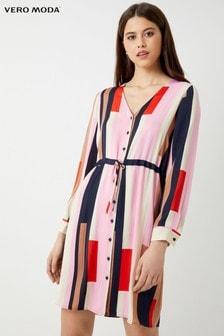 Vero Moda Petite Long Sleeve Shirt Dress 25a8c312b8