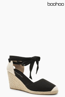 Boohoo Canvas Espadrille Wedges