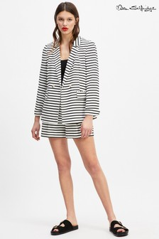 Miss Selfridge Stripe Double Breasted Blazer