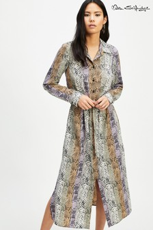 Miss Selfridge Snake Print Shirt Dress