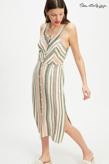 Miss Selfridge Striped Linen Dress