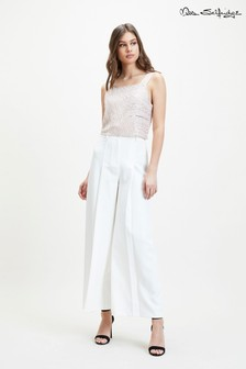 Miss Selfridge Curve Waistband Wide Leg Trousers