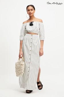 Miss Selfridge Maxi Split Front Stripe Skirt