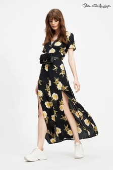 Miss Selfridge Floral Print Button Through Maxi Dress