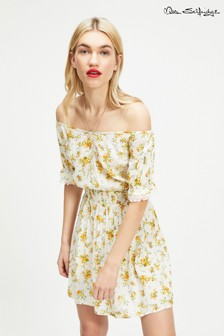 Miss Selfridge Blossom Print Bardot Dress