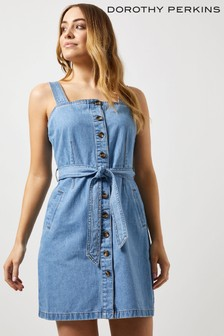 Dorothy Perkins Fit and Flare Denim Pinafore