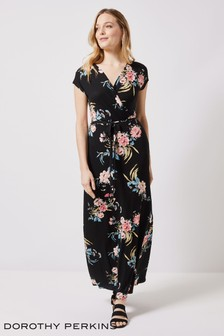 Dorothy Perkins Wrap Jersey Maxi Dress