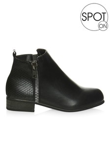 Spot On Girls Flat Ankle Boot