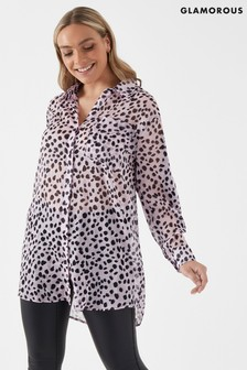 Glamorous Curve Leopard Print Shirt