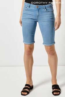 Dorothy Perkins Lightwash Denim Knee Short
