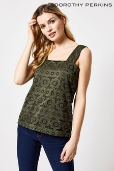 Dorothy Perkins Lace Square Neckline Top