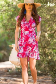 Pour Moi Santa Monica Floral Beach Wrap Dress