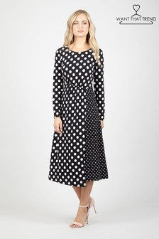Want That Trend Polka Dot Dress