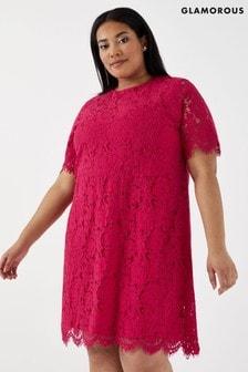 Кружевное платье-трапеция Glamorous Curve
