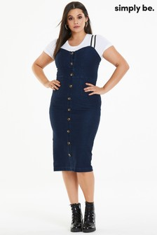 Simply Be Jersey Denim Dress