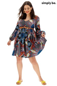 Simply Be Crinkle Boho Smock Dress