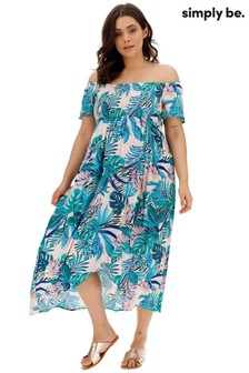 Simply Be Crinkle Shirred Maxi Dress