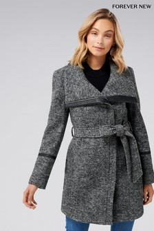 Forever New Salt & Pepper Coat