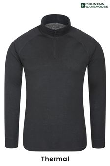 Mountain Warehouse Talus Mens Long Sleeved Zip Neck Top