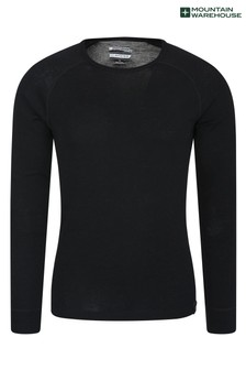 Mountain Warehouse Merino Mens Long Sleeved Round Neck Top