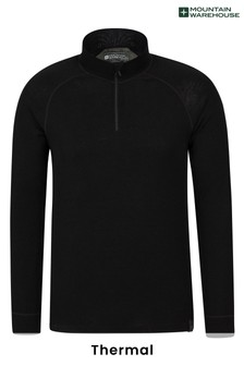 Mountain Warehouse Merino Mens Long Sleeved Zip Neck Top