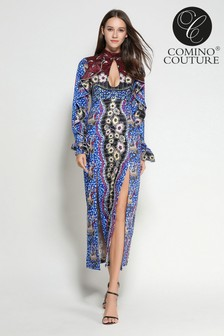 Comino Couture Mosaic Keyhole Dress