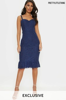 PrettyLittleThing Cami Strap Lace Dress