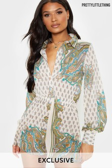 PrettyLittleThing Paisley Playsuit