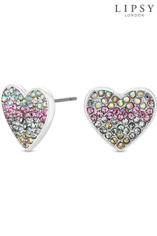 Lipsy Rainbow Heart Stud Earrings