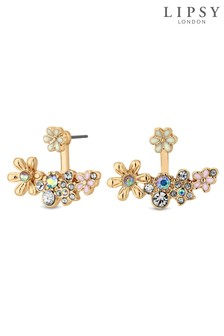 Lipsy Enamel Flower Earrings