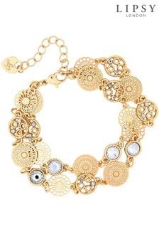 Lipsy Gold Filigree 2 Row Bracelet