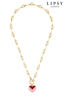 Lipsy Enamel Heart Necklace
