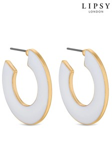 Lipsy Enamel Hoop Earrings