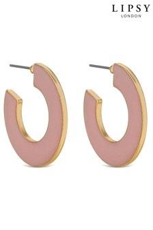 Lipsy Enamel Hoop Earrings