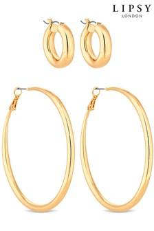 Lipsy Hoop Earrings - Pack Of 2