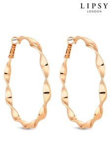 Lipsy Twist Hoop Earrings