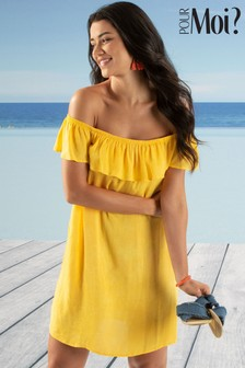 Pour Moi Santa Monica Bardot Beach Dress