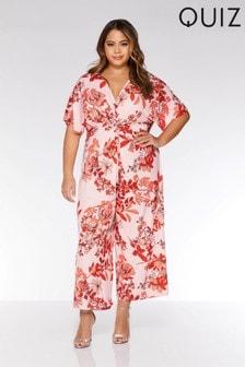 Quiz Curve Floral Print Culotte Jumpsuit
