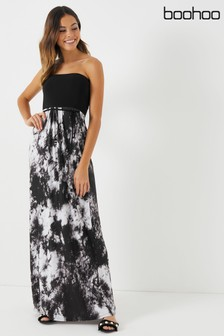 3823535f38 Boohoo 2 in 1 Bandeau Tie Dye Maxi Dress