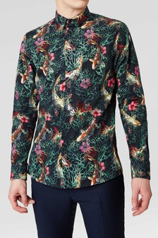 Twisted Tailor Henson Floral Print Shirt