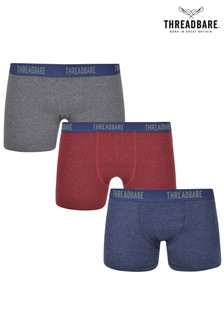 Threadbare Three Pack Hipster Boxers