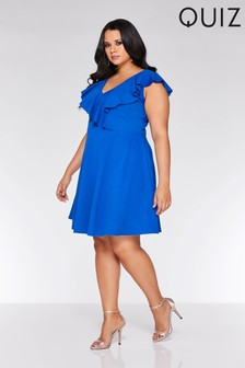 Quiz Curve Frill Skater Dress