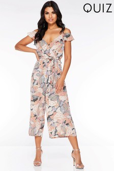 5f7d4dd4738 Quiz Abstract Culotte Jumpsuit
