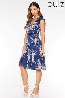 Quiz Floral Print Tea Dress