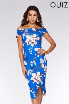 4d568b3fb6b Quiz Floral Bardot Midi Dress